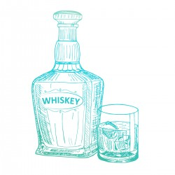(CO726843)Couture Creations Whiskey Mini Stamp