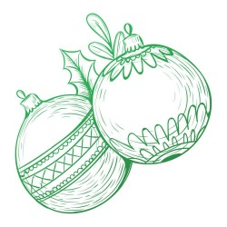 (CO726912)Couture Creations Christmas Baubles Mini Stamp