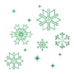 (CO726915)Couture Creations Snowflakes Mini Stamp