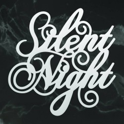 (CO726909)Couture Creations Silent Night Sentiment Mini Die