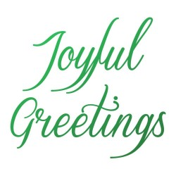 (CO726916)Couture Creations Joyful Greetings Sentiment Mini Stamp