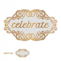 (CO726855)Couture Creations Celebrate Tag Cut, Foil and Emboss Die
