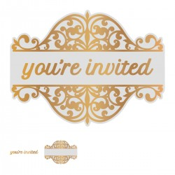 (CO726856)Couture Creations You're Invited Tag Cut, Foil and Emboss Die Set