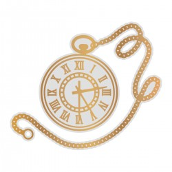 (CO726854)Couture Creations Pocket Watch Cut, Foil and Emboss Die