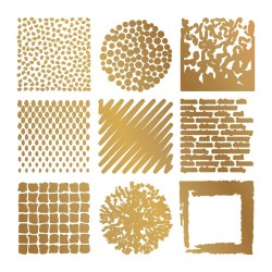 (CO726807)Couture Creations Texture Tiles Hot Foil Stamps