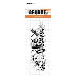 (STAMPSL343)Studio light Stamp Grunge Collection nr.343