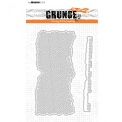 (STENCILSL174)Studio Light Cutting and Embossing Die, Grunge Collection 2.0, nr.174