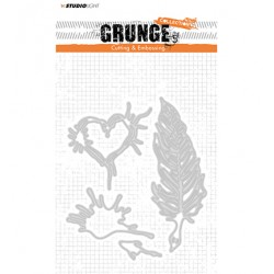 (STENCILSL177)Studio Light Cutting and Embossing Die, Grunge Collection 2.0, nr.177