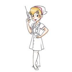 (CCDR-0005)C.C.DESIGNS Rubber Stamp Nurse Sue