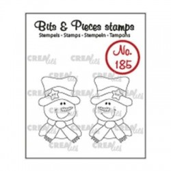 (CLBP185)Crealies Clearstamp Bits & Pieces 2x Snowman