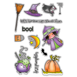 (PD7456)Polkadoodles Hey Pumpkin Clear Stamps