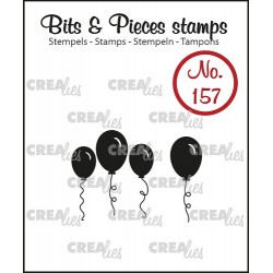 (CLBP157)Crealies Clearstamp Bits & Pieces balloons (solid)