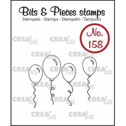 (CLBP158)Crealies Clearstamp Bits & Pieces balloons (outline)
