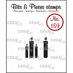 (CLBP159)Crealies Clearstamp Bits & Pieces candles (solid)