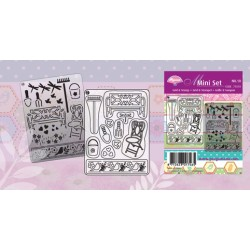 Pergamano Mini set grid & stamp 10 (71010)