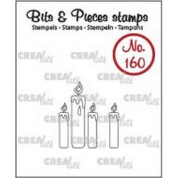 (CLBP160)Crealies Clearstamp Bits & Pieces candles (outline)