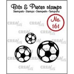 (CLBP161)Crealies Clearstamp Bits & Pieces soccer balls