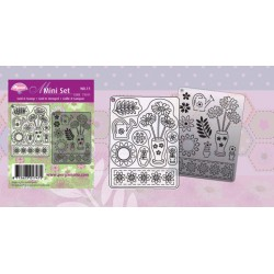 Pergamano Mini set grid & stamp 11 (71011)