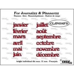 (CLJP604FR)Crealies Journalzz & Pl Dies: Months FR