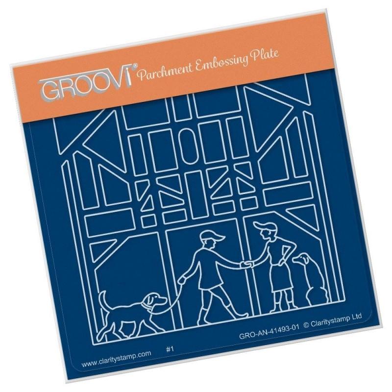 (GRO-AN-41493-01)Groovi® Baby plate A6 BEST FRIENDS
