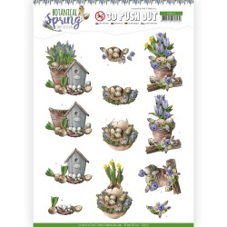 (SB10435)3D Pushout - Amy Design - Botanical Spring - Spring Arrangement