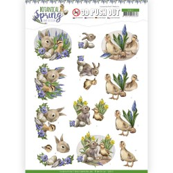 (SB10437)3D Pushout - Amy Design - Botanical Spring - Best Friends