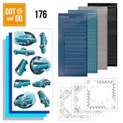 (DODO176)Dot and Do 176 - Yvonne Creations - Cars in Blue