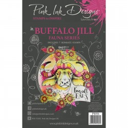 (PI056)Pink Ink Designs Clear stamp Buffalo Jill