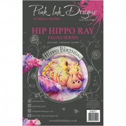 (PI057)Pink Ink Designs Clear stamp Hip Hippo-Ray
