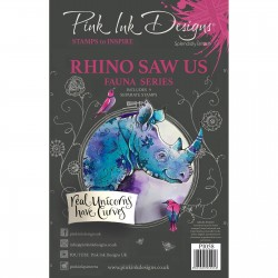 (PI058)Pink Ink Designs Clear stamp Rhino Saw Us