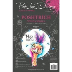 (PI059)Pink Ink Designs Clear stamp Postrich