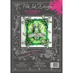 (PID003)Pink Ink Designs Clear stamp & dies jitterbug