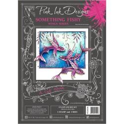 (PID006)Pink Ink Designs Clear stamp & dies something