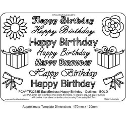 EMBOSSING EasyEmboss 'Happy Birthday' Outlines - BOLD