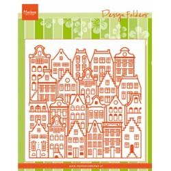 (DF3458)Marianne Design Folder Dutch houses