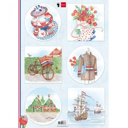 (EWK1274)3D I love Holland - Bicycle