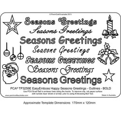 EMBOSSING EasyEmboss 'Seasons Greetings' Outlines - BOLD