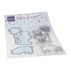 (HT1653)Clear stamp Hetty's Dutch farmer