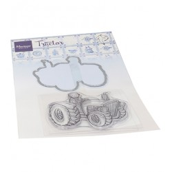(HT1654)Clear stamp Hetty's Tractor
