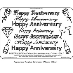 EMBOSSING EasyEmboss 'Happy Anniversary' Outlines - BOLD
