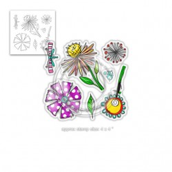(PD8001)Polkadoodles Adorable Florable Clear Stamps