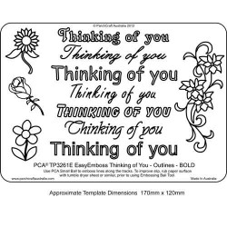 EMBOSSING EasyEmboss 'Thinking of you' Outlines - BOLD