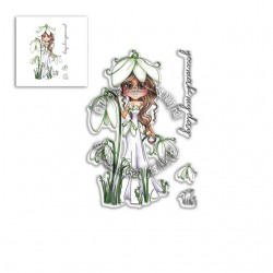 (PD8040)Polkadoodles Snowdrop Darling Buds Clear Stamps