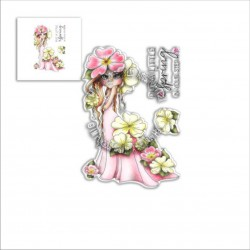 (PD8042)Polkadoodles Primrose Darling Bud Clear Stamps