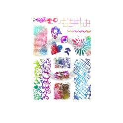 (PD8045)Polkadoodles Amazing Textures Clear Stamps