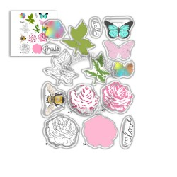 (PD8056)Polkadoodles Honey Rose Clear Stamps