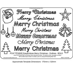 EMBOSSING EasyEmboss 'Merry Christmas' Outlines - BOLD