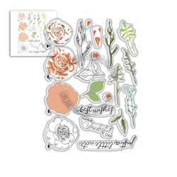 (PD8057)Polkadoodles Spring Rose Clear Stamps