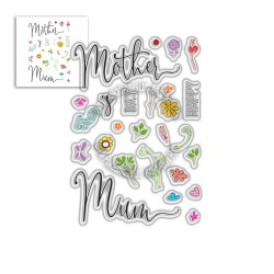 (PD8058)Polkadoodles Mother's Day Sentiments Clear Stamps