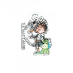 (PD7855)Polkadoodles Little Dudes Legend Knight Clear Stamps